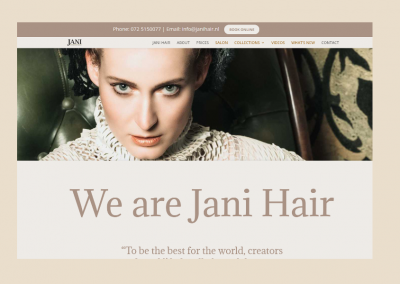 Website Jani Hair & Beauty