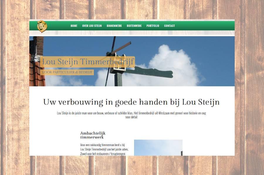 Website van Lou Steijn Timmerwerken