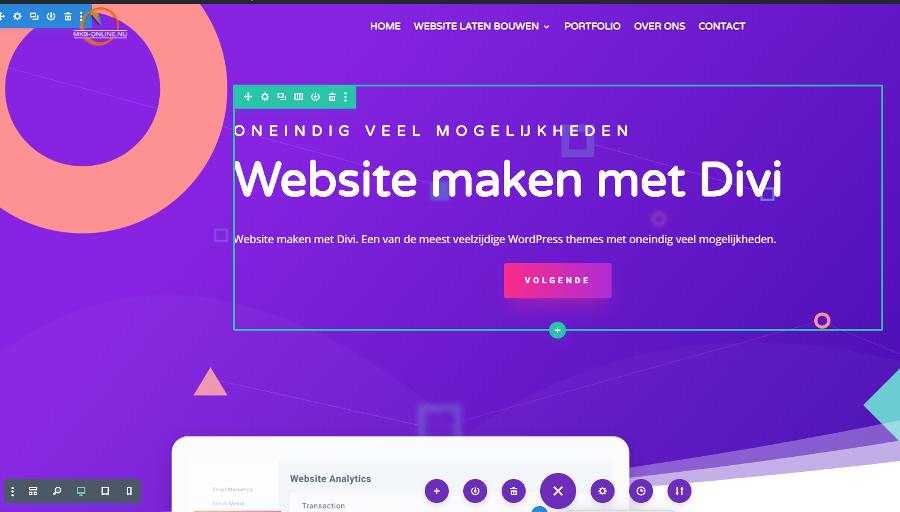 Website maken met Divi