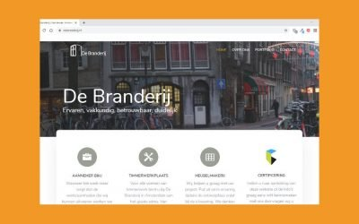 De Branderij portfolio website